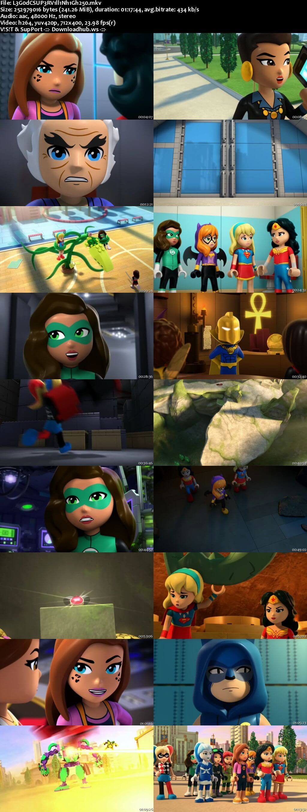 Lego DC Super Hero Girls Super-Villain High 2018 English 480p Web-DL ESubs