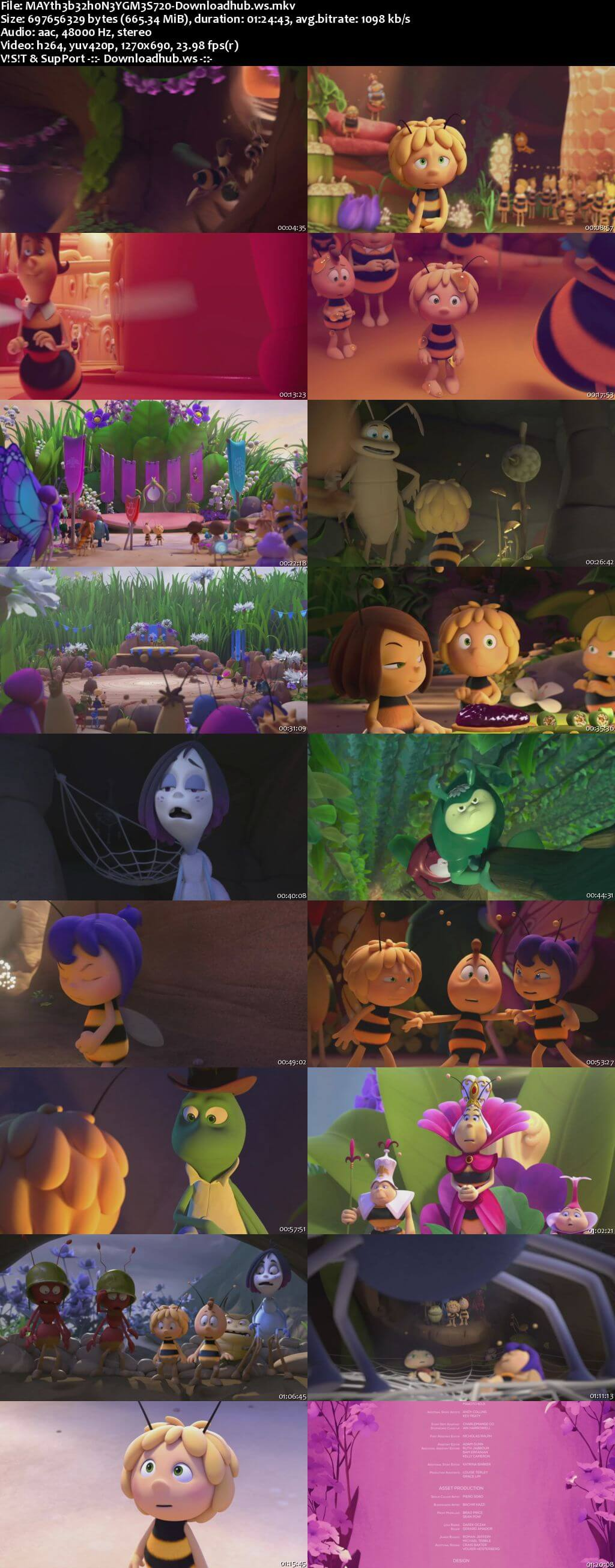 Maya the Bee 2 The Honey Games 2018 English 720p Web-DL 650MB ESubs