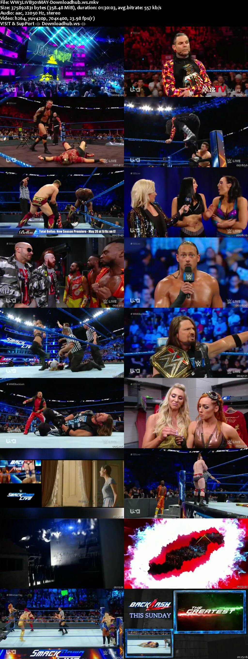WWE Smackdown Live 01 May 2018 480p HDTV Download