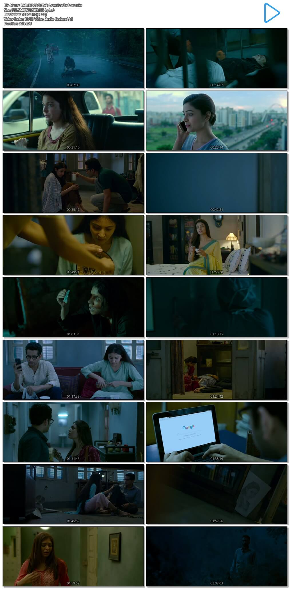 Pari 2018 Hindi 720p HEVC HDRip ESubs