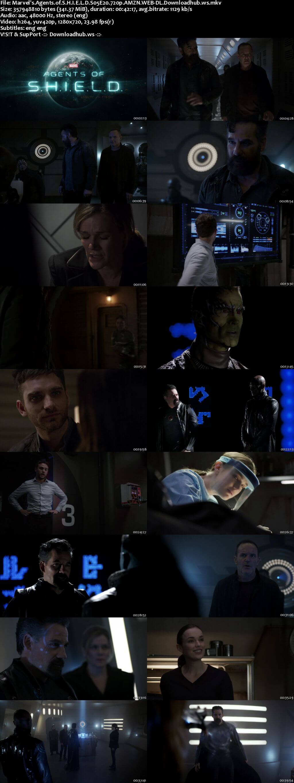 Marvels Agents of S.H.I.E.L.D S05E20 340MB Web-DL 720p x264 ESubs
