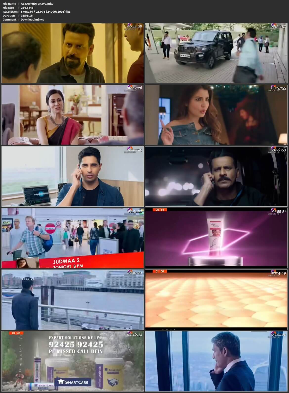 Aiyaary 2018 Hindi HEVC 480p HDTV