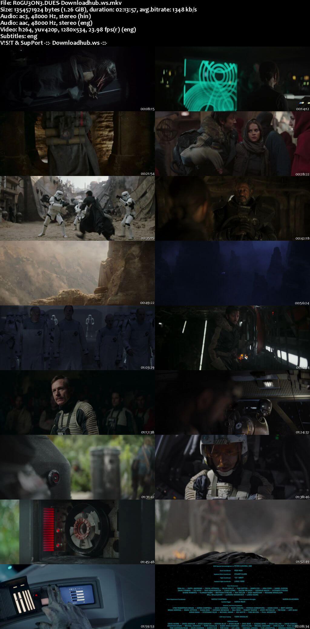 Rogue One A Star Wars Story 2016 Hindi Dual Audio 720p BluRay Free Download