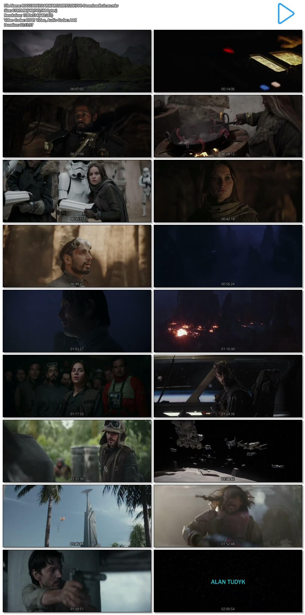Rogue One A Star Wars Story 2016 Hindi Dual Audio 720p HEVC BluRay Free Download