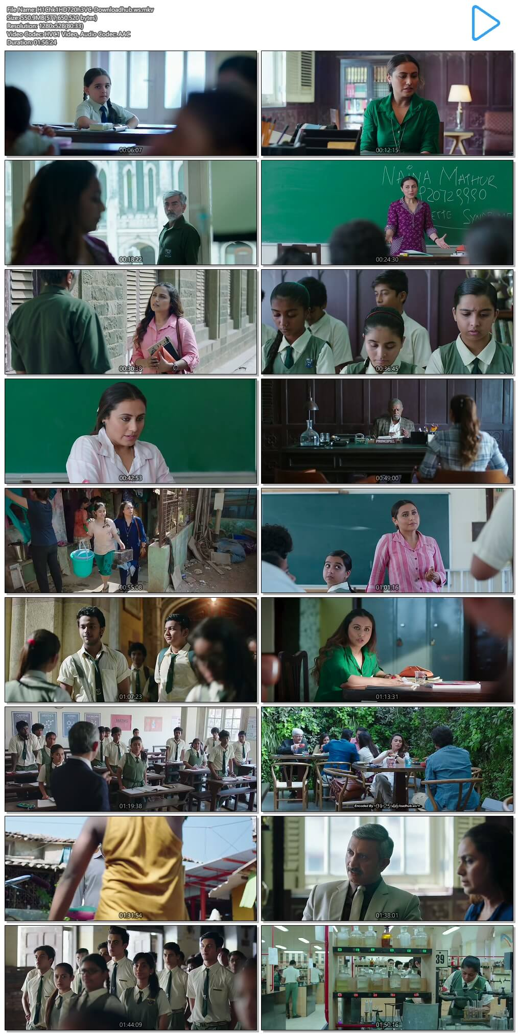 Hichki 2018 Hindi 720p HEVC HDRip ESubs