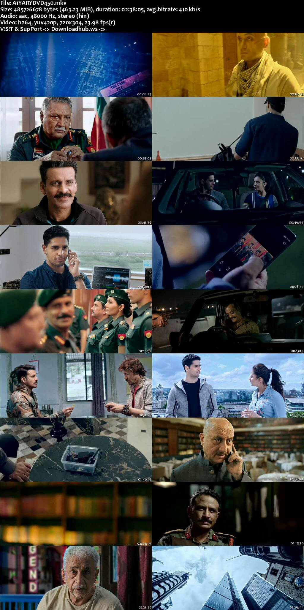 Aiyaary 2018 Hindi 480p DVDRip ESubs