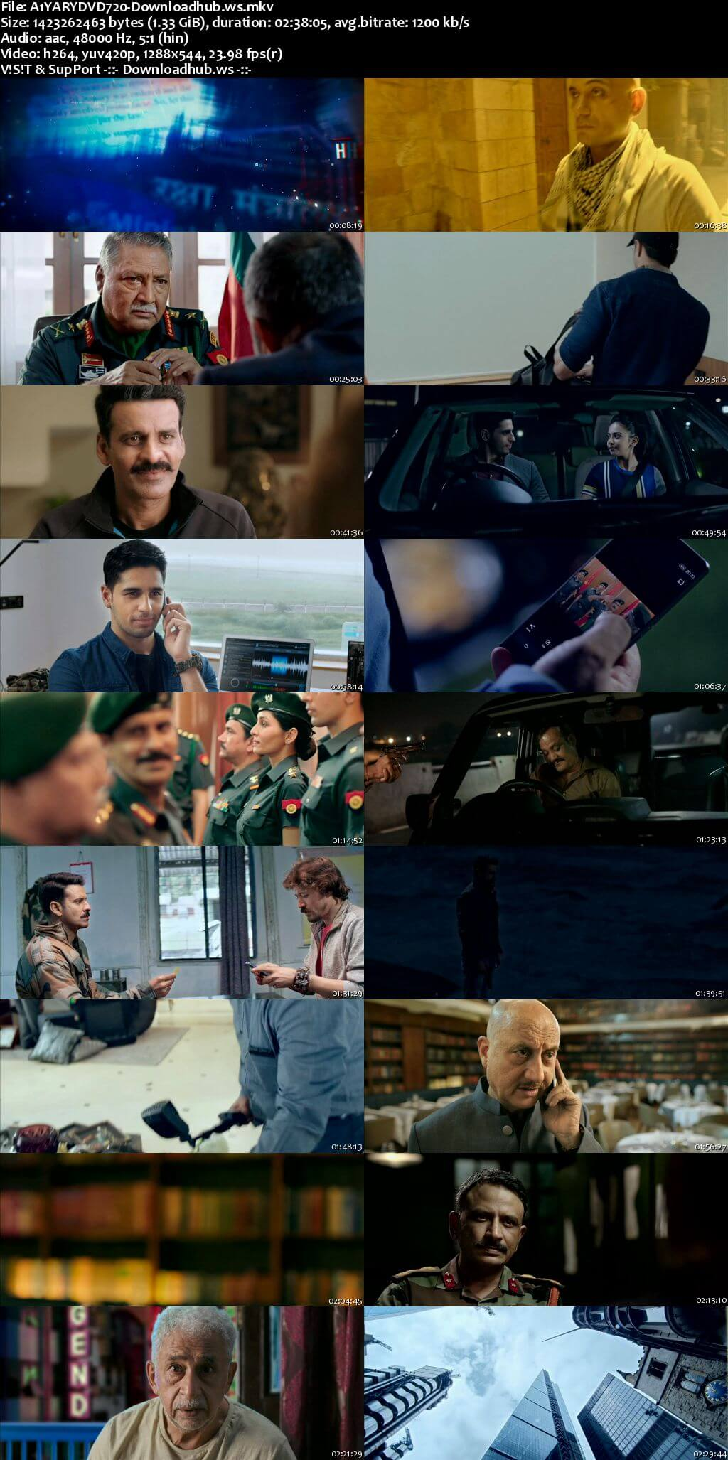 Aiyaary 2018 Hindi 720p DVDRip ESubs