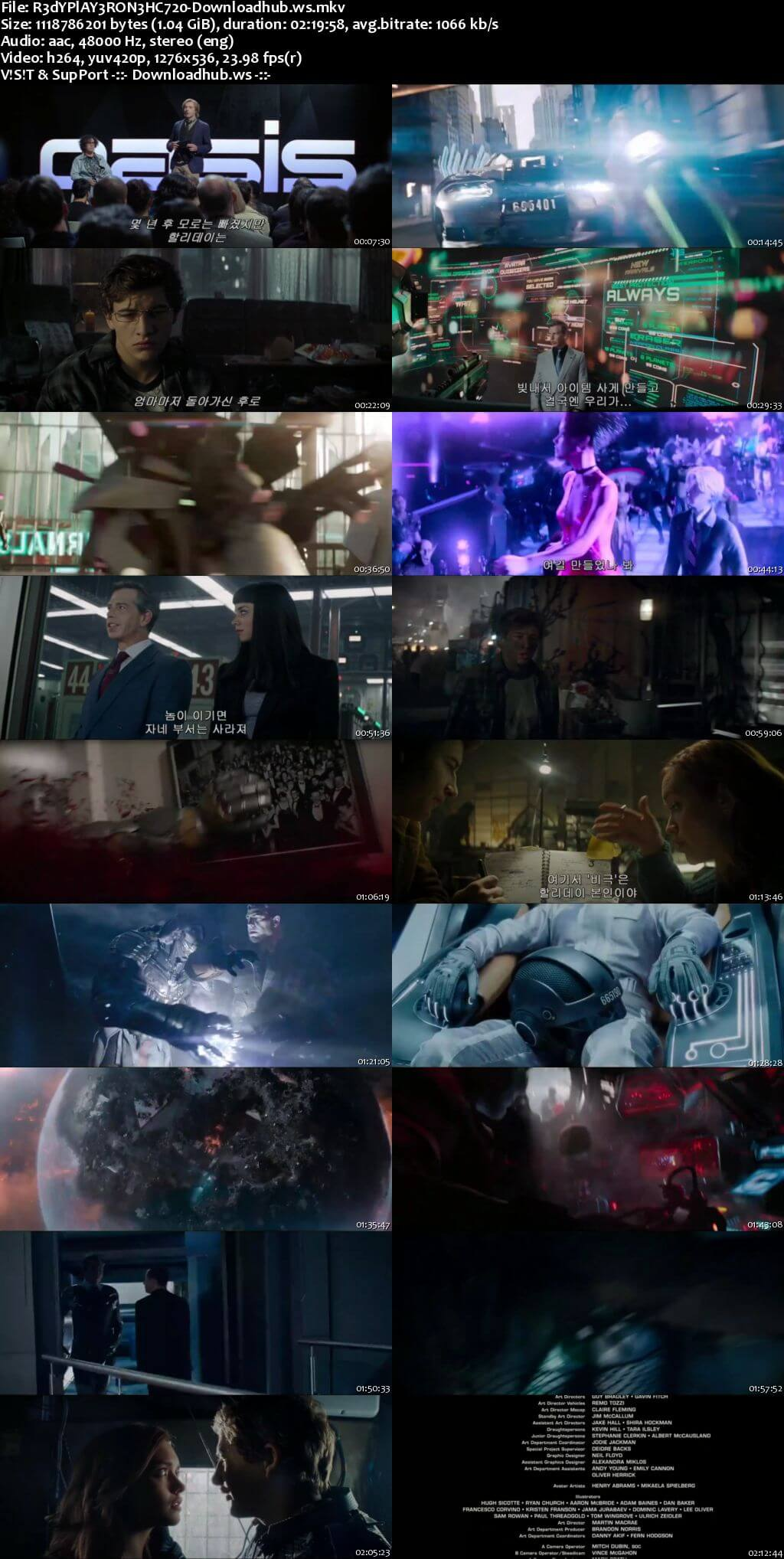 Ready Player One 2018 English 720p HC HDRip 1GB