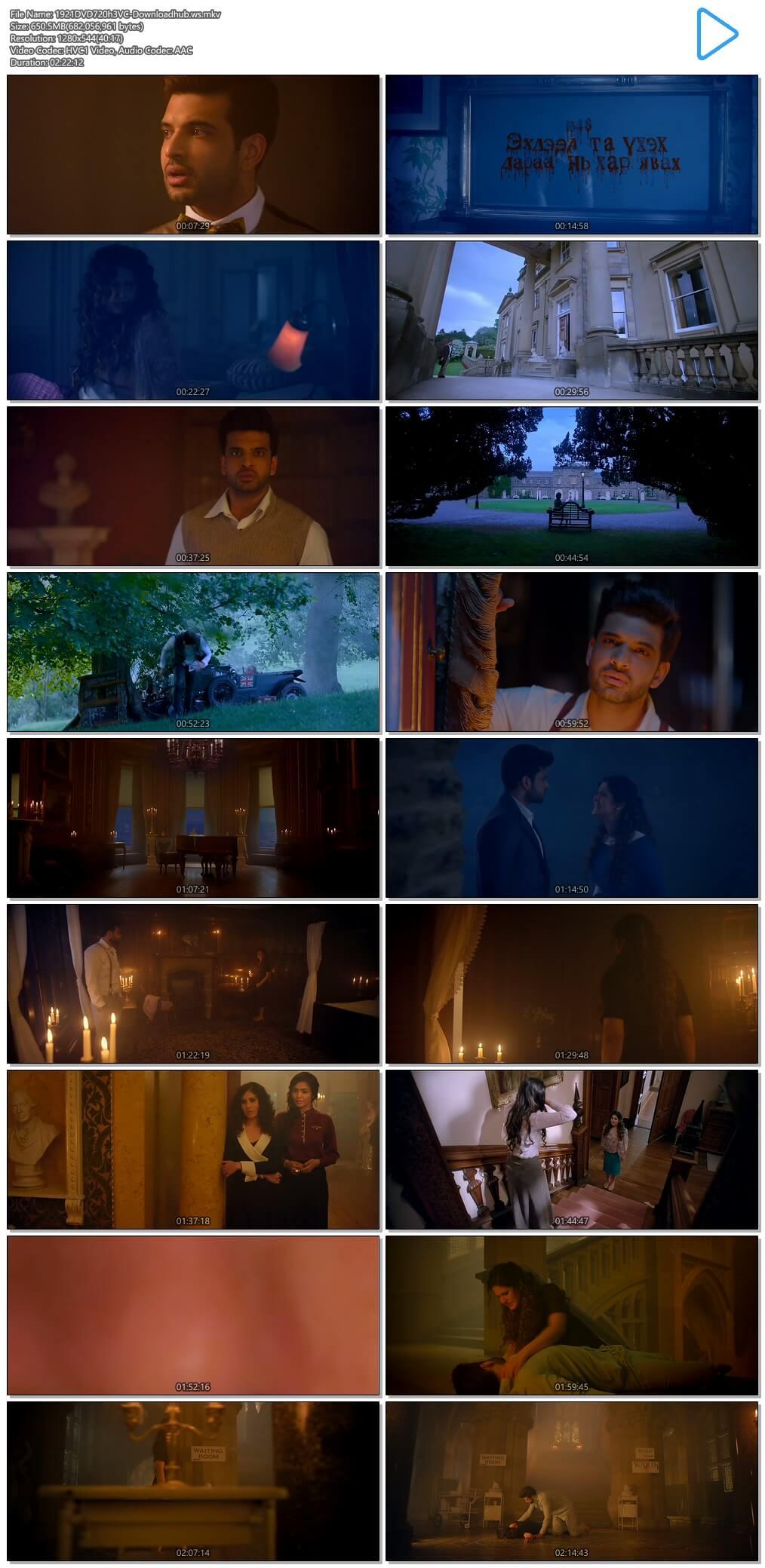 1921 2018 Hindi 720p HEVC DVDRip ESubs