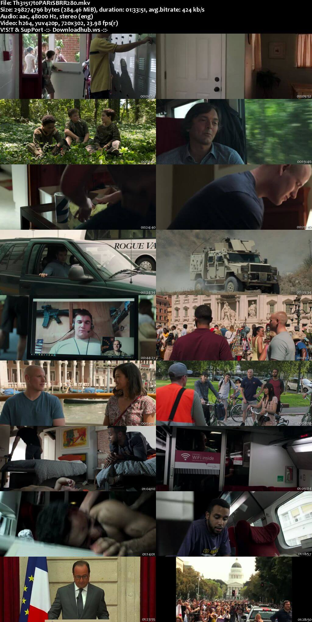 The 15:17 to Paris 2018 English 480p BRRip ESubs