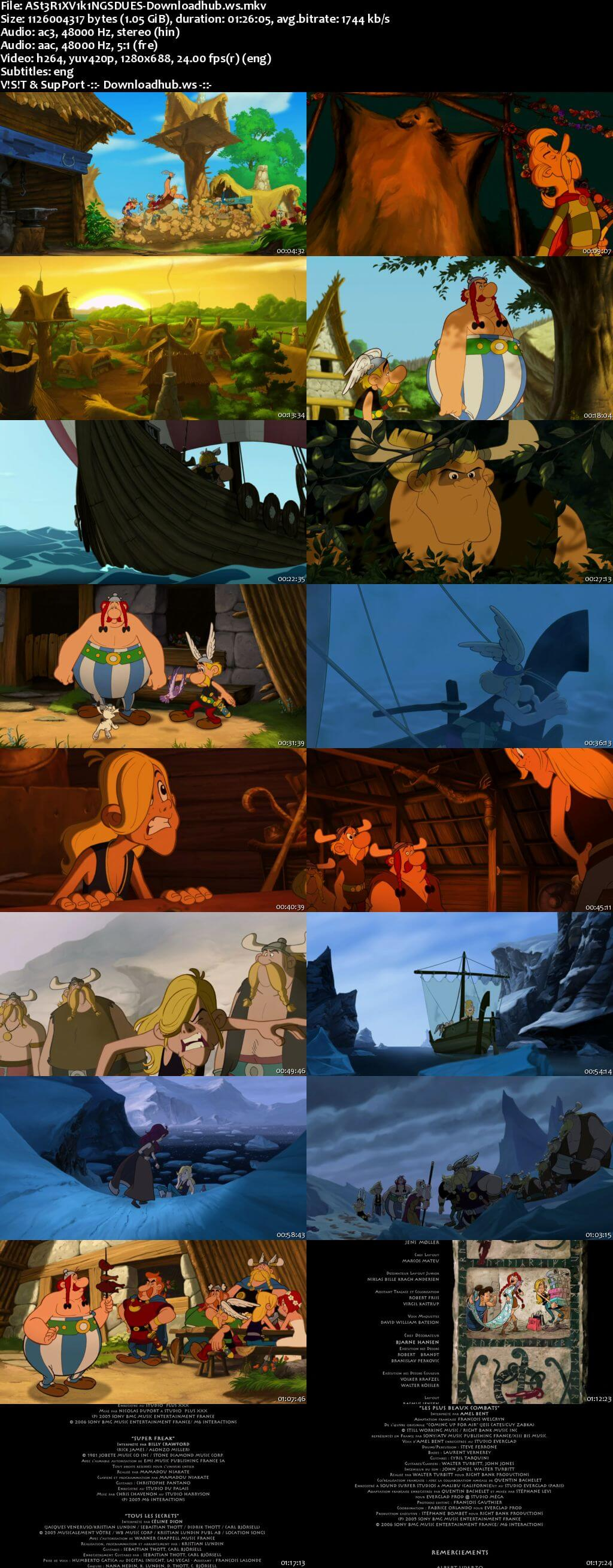 Asterix and the Vikings 2006 Hindi Dual Audio 720p BluRay Free Download
