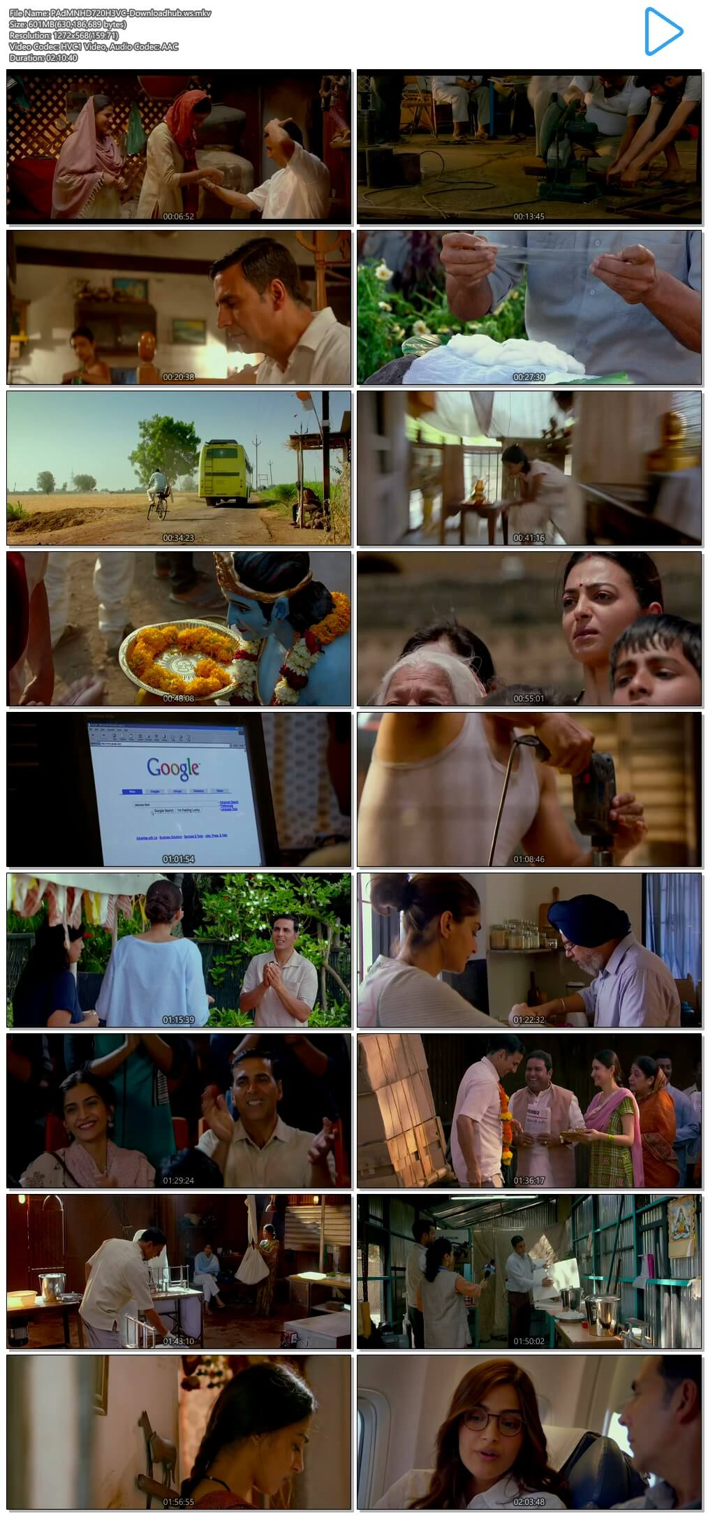 Padman 2018 Hindi 720p HEVC HDRip