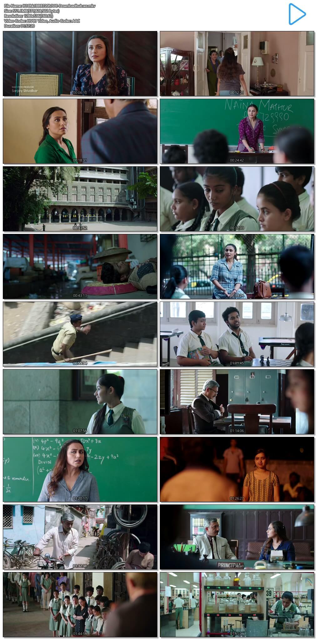 Hichki 2018 Hindi 720p HEVC BluRay ESubs