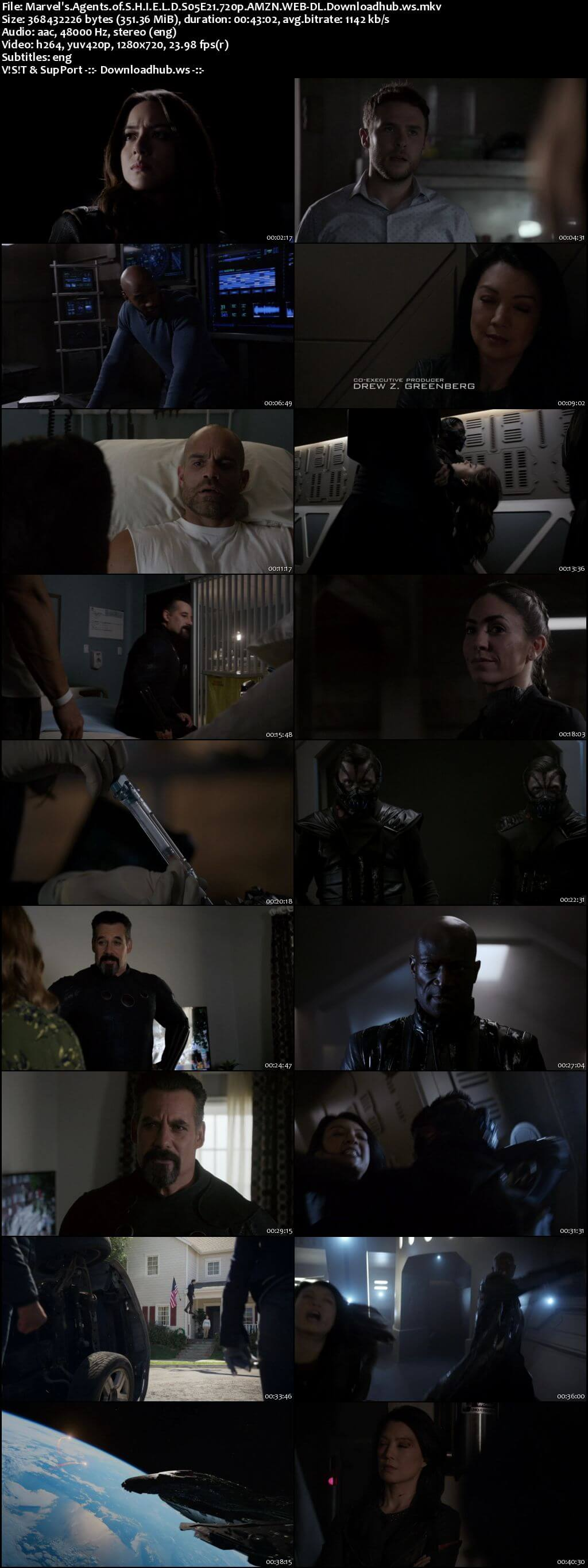 Marvels Agents of S.H.I.E.L.D S05E21 350MB Web-DL 720p x264 ESubs