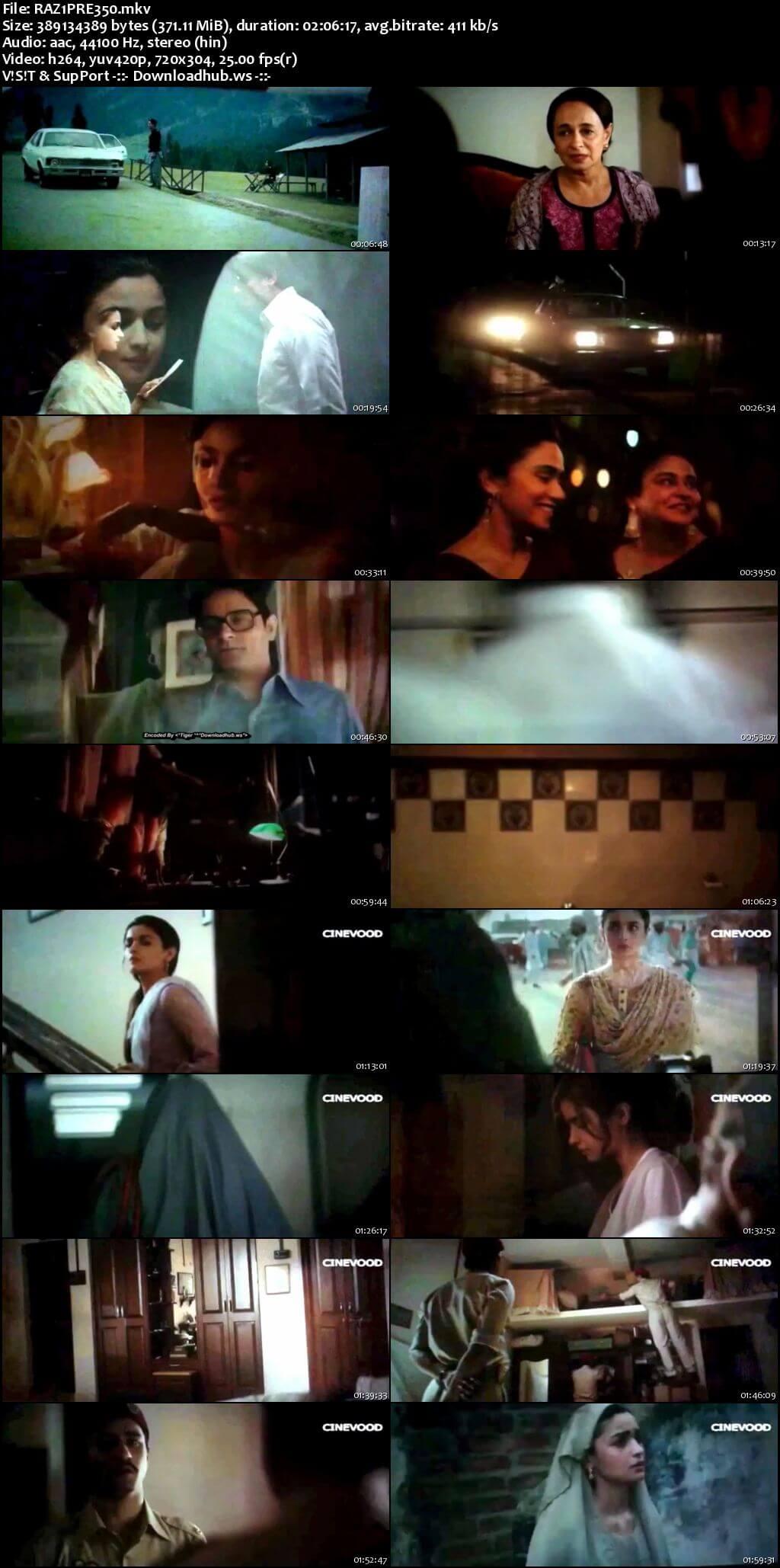 Raazi 2018 Hindi 480p Pre-DVDRip x264