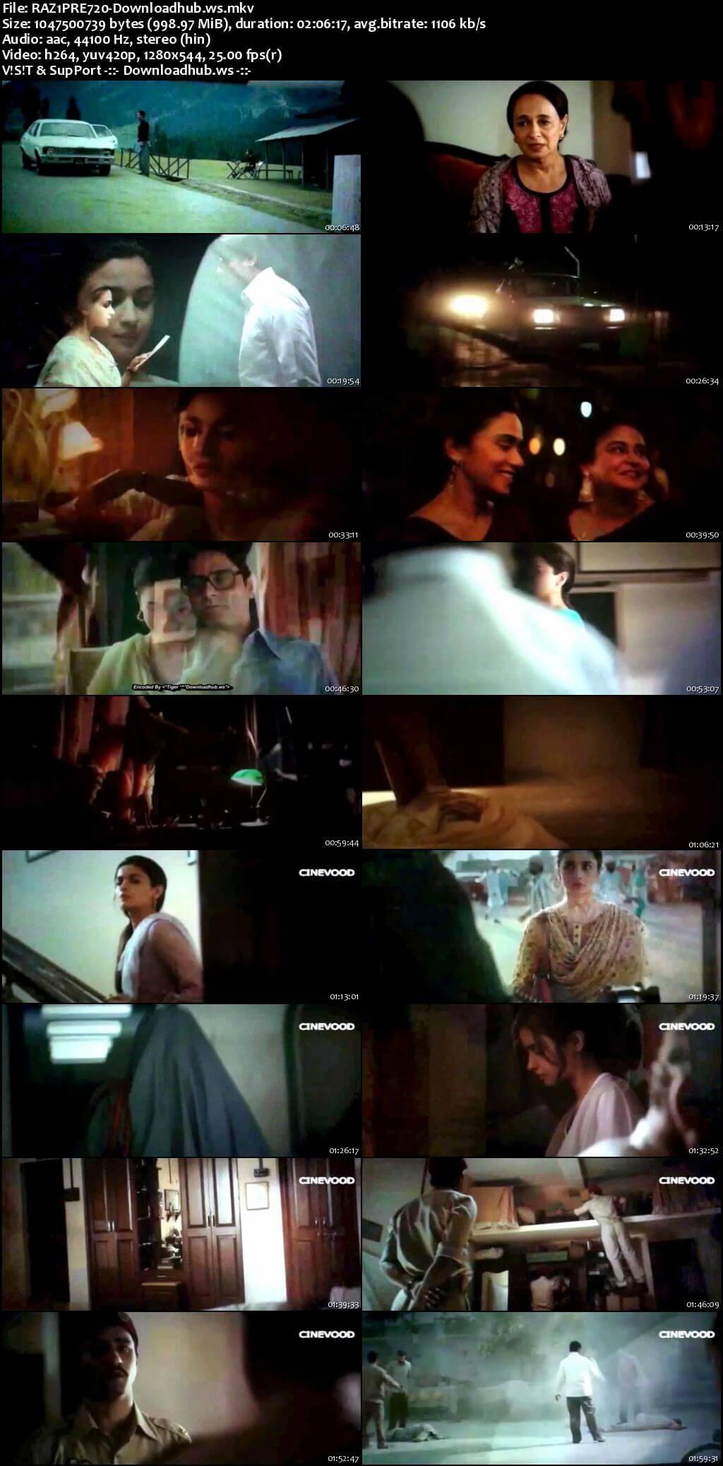 Raazi 2018 Hindi 720p Pre-DVDRip x264