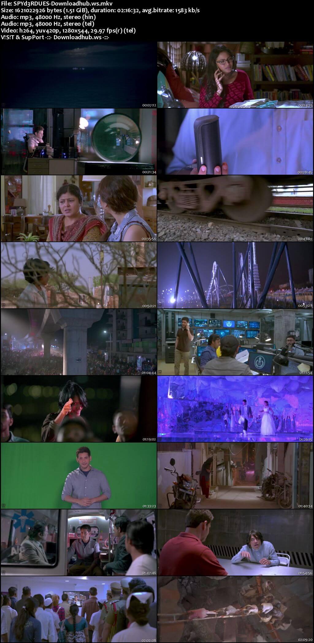 Spyder 2017 UNCUT Hindi Dual Audio 720p HDRip Free Download