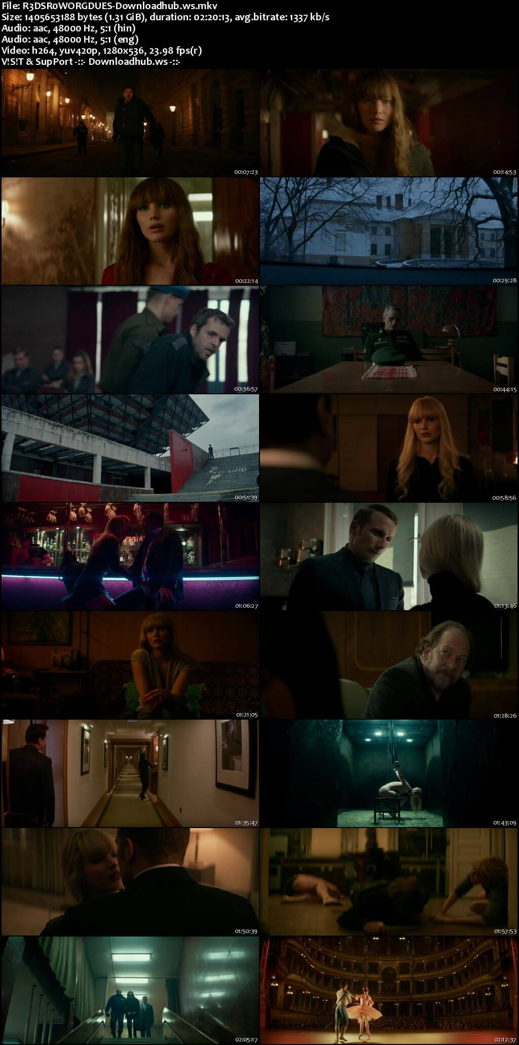 Red Sparrow 2018 Hindi Dual Audio 720p BluRay Free Download