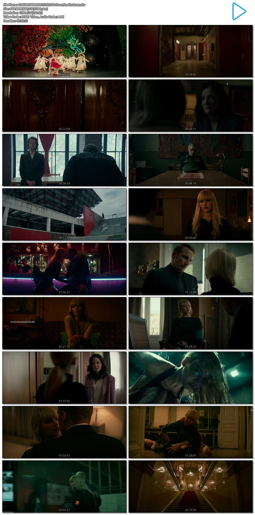 Red Sparrow 2018 Hindi Dual Audio 720p HEVC BluRay Free Download