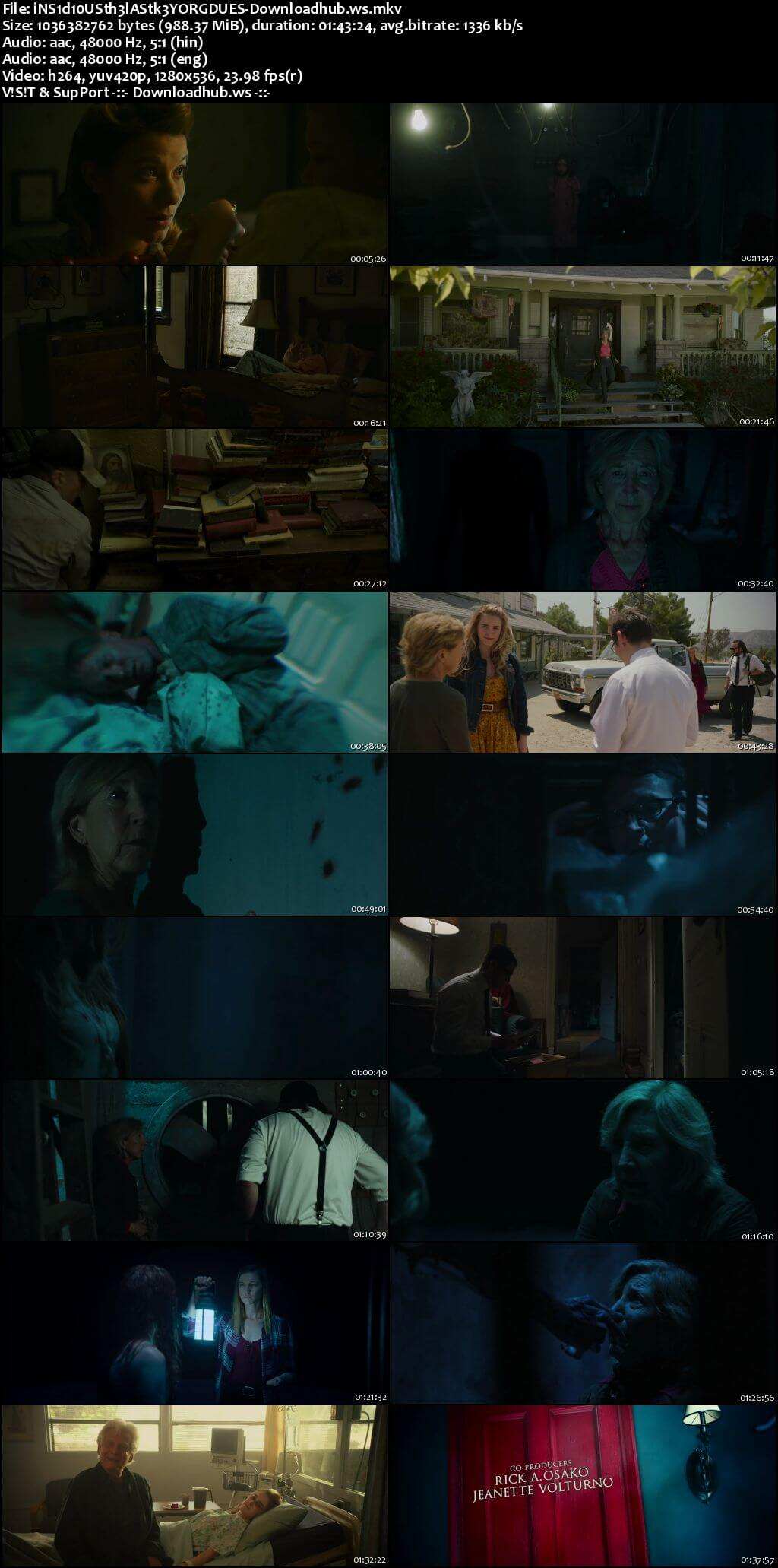 Insidious The Last Key 2018 Hindi Dual Audio 720p BluRay Free Download