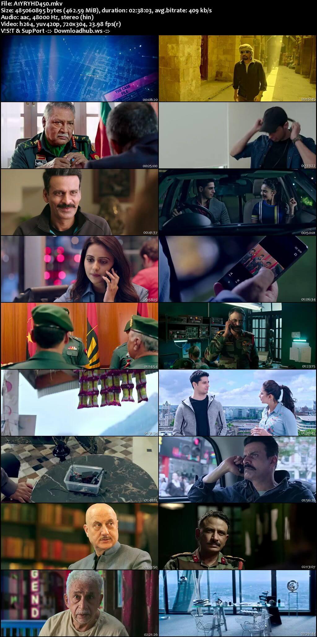 Aiyaary 2018 Hindi 480p HDRip ESubs