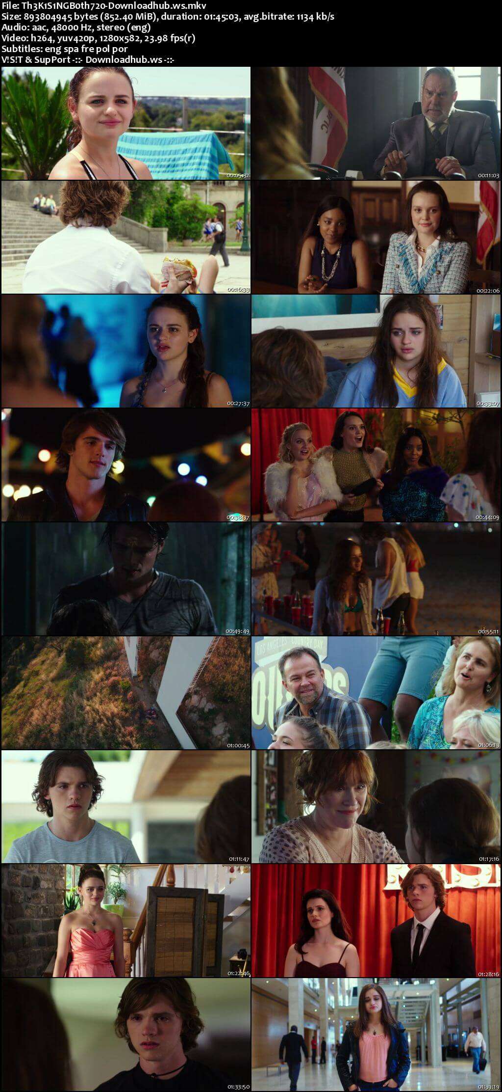 The Kissing Booth 2018 English 720p WEBRip 850MB ESubs