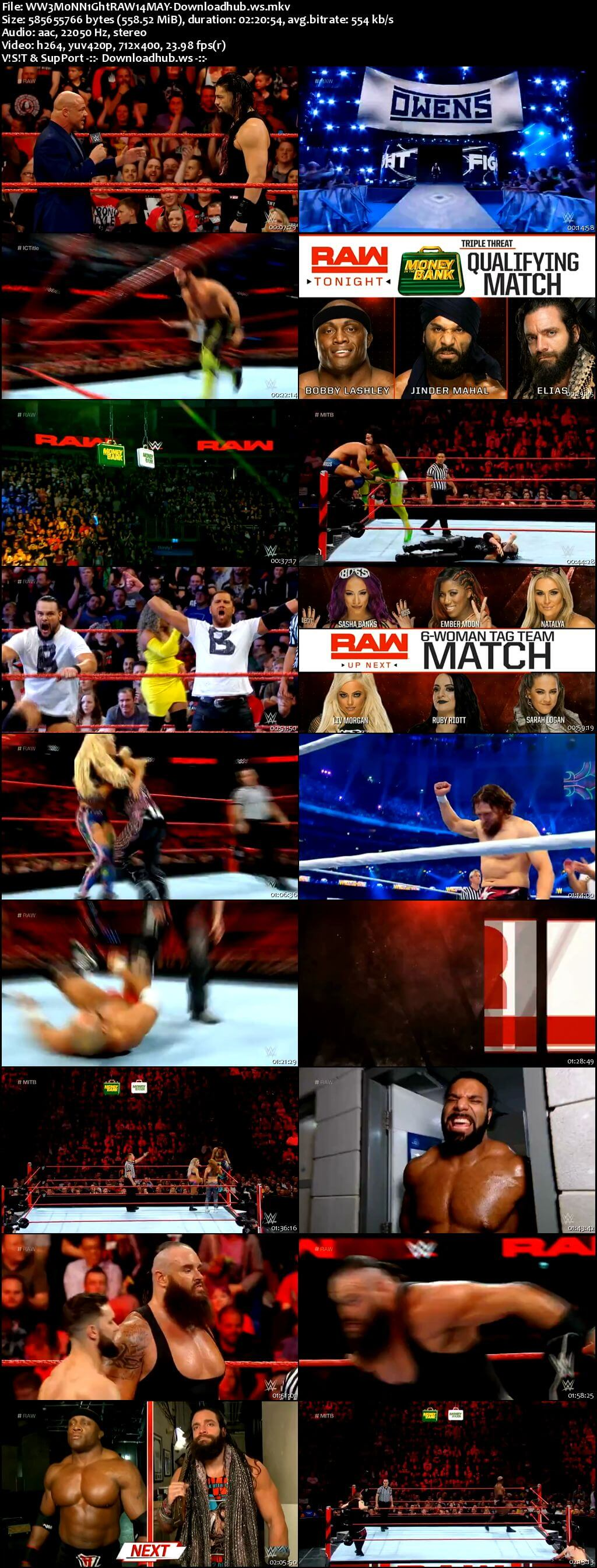 WWE Monday Night Raw 14 May 2018 480p HDTV Download