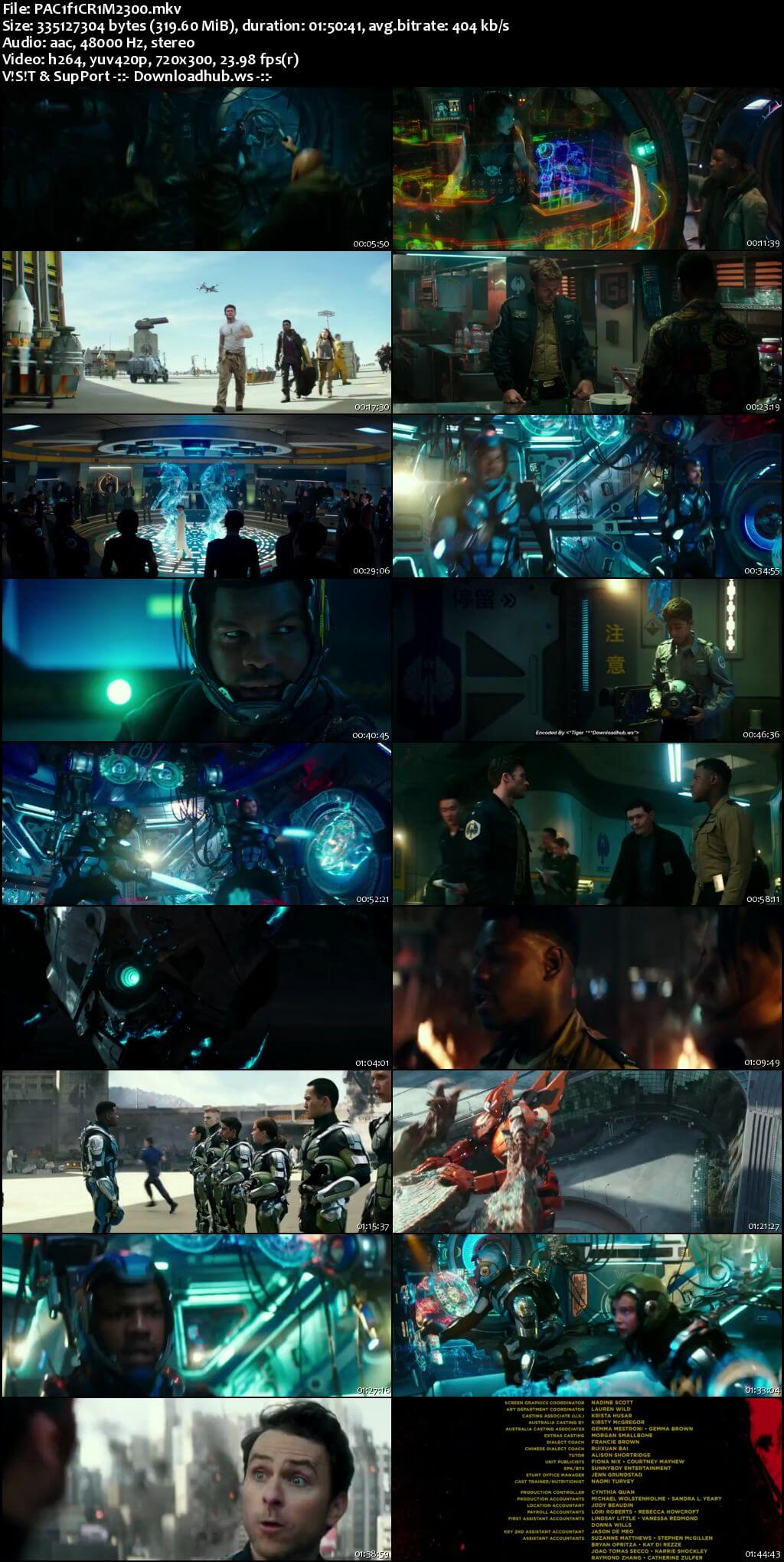 Pacific Rim Uprising 2018 English  Web-DL 850MB