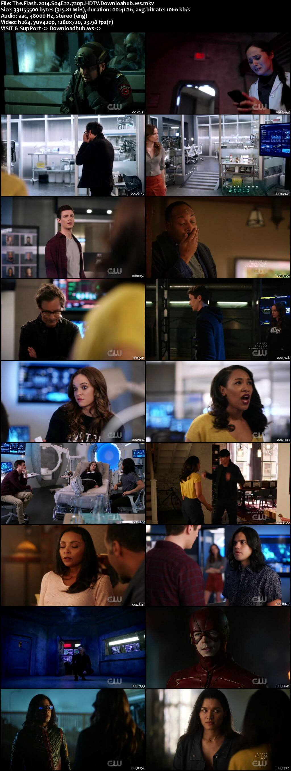 The Flash S04E22 300MB HDTV 720p x264
