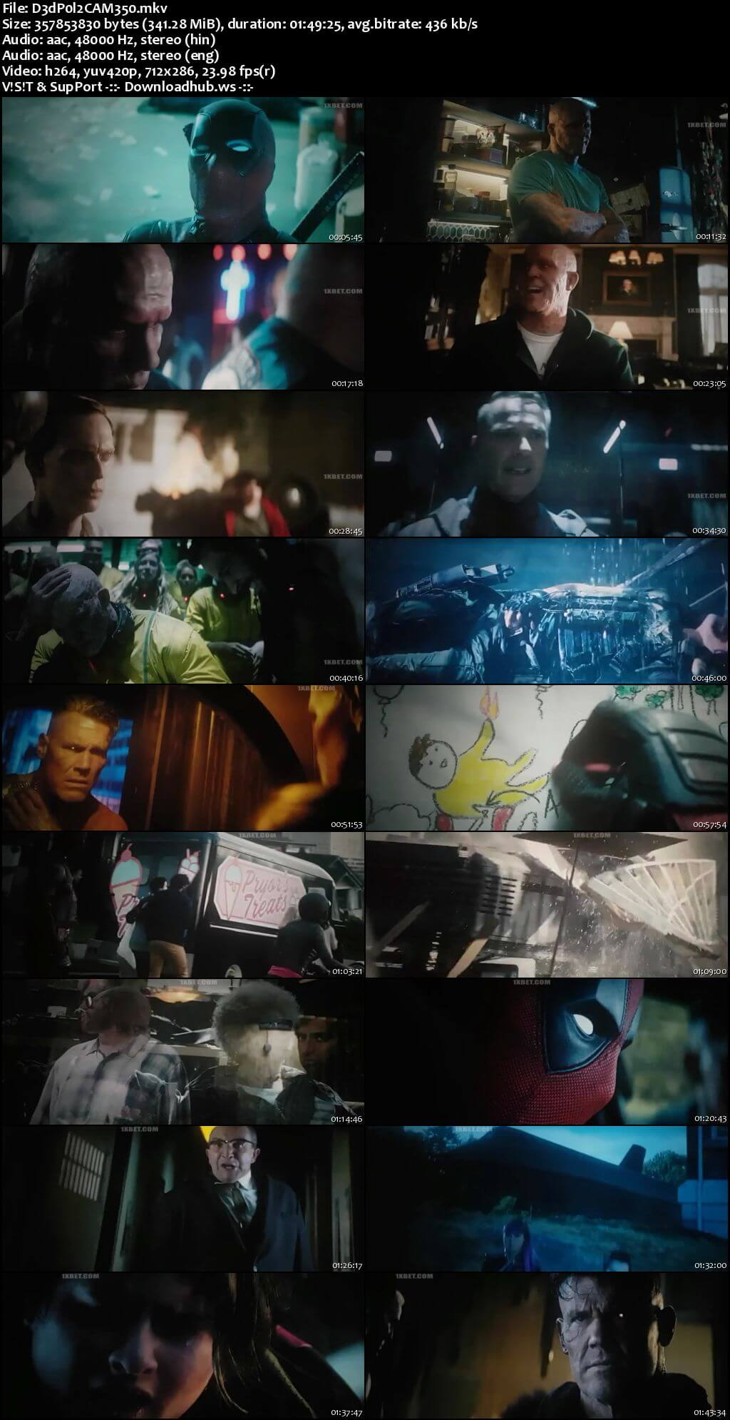 Deadpool 2 2018 Hindi Dual Audio  HDCAM Download