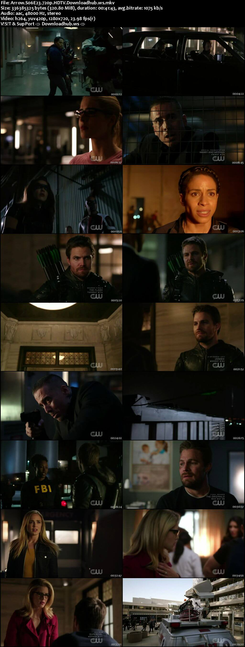 Arrow S06E23 300MB HDTV 720p x264