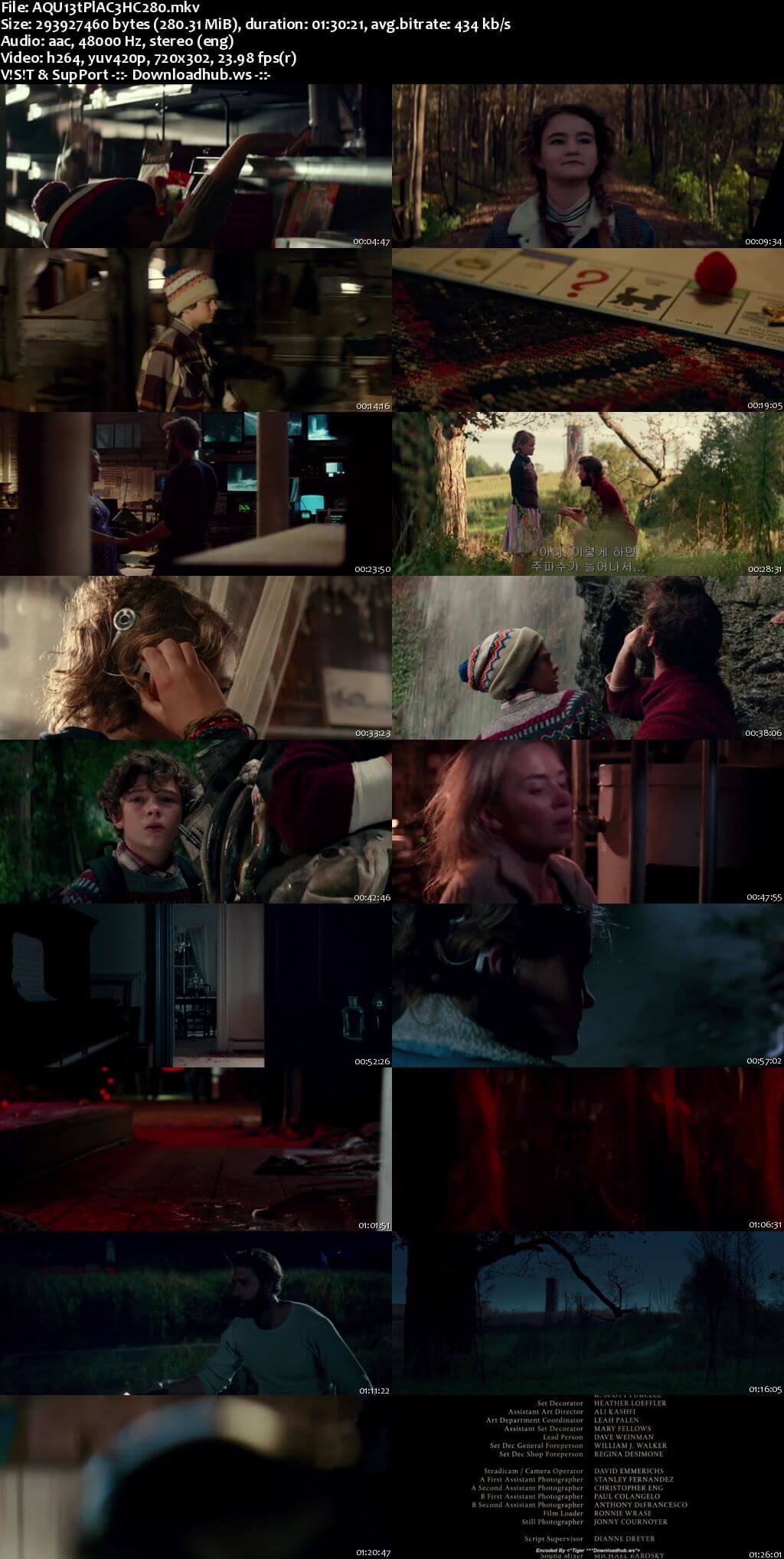 A Quiet Place 2018 English 480p HC HDRip ESubs
