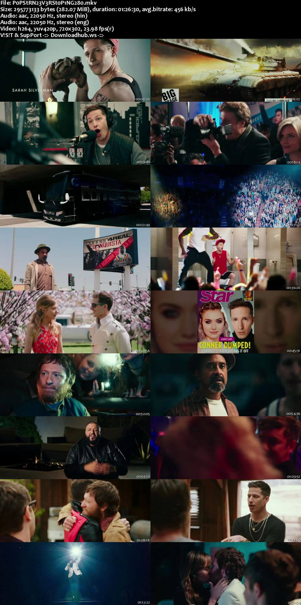 Popstar Never Stop Never Stopping 2016 Hindi Dual Audio 480p BluRay Free Download