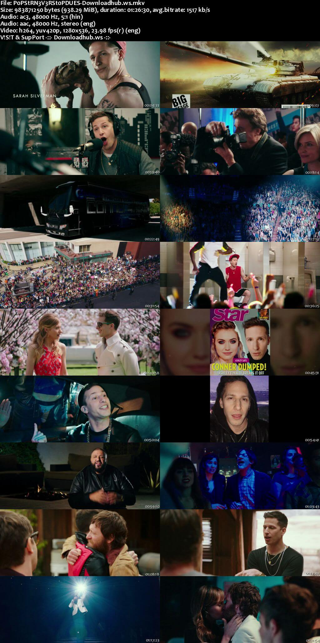 Popstar Never Stop Never Stopping 2016 Hindi Dual Audio 720p BluRay Free Download