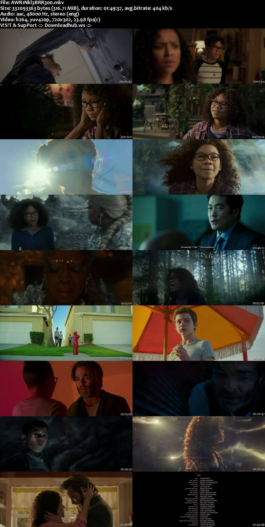 A Wrinkle in Time 2018 English 480p BRRip ESubs
