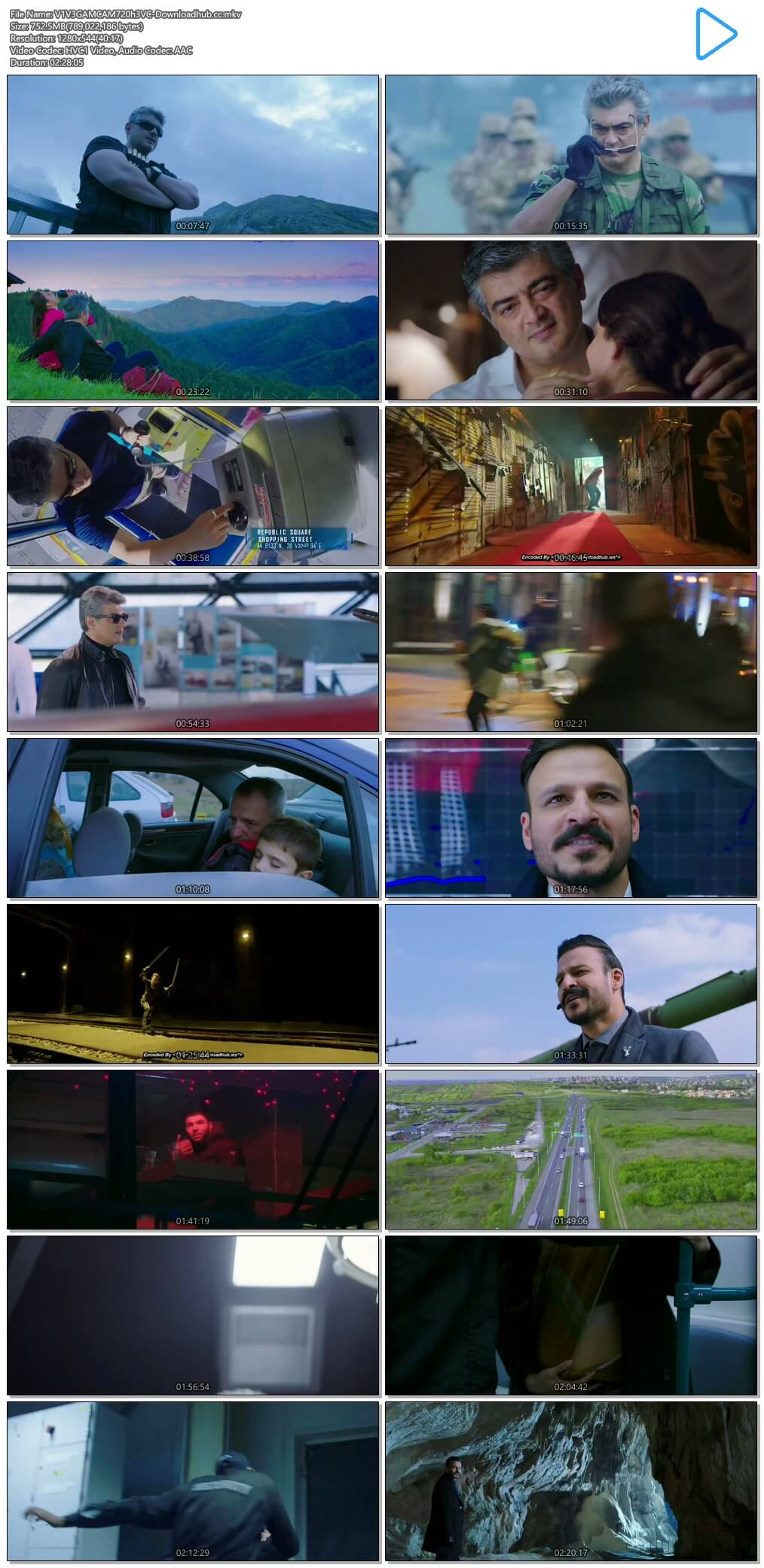 Vivegam 2017 UNCUT Hindi Dual Audio 720p HEVC HDRip Free Download