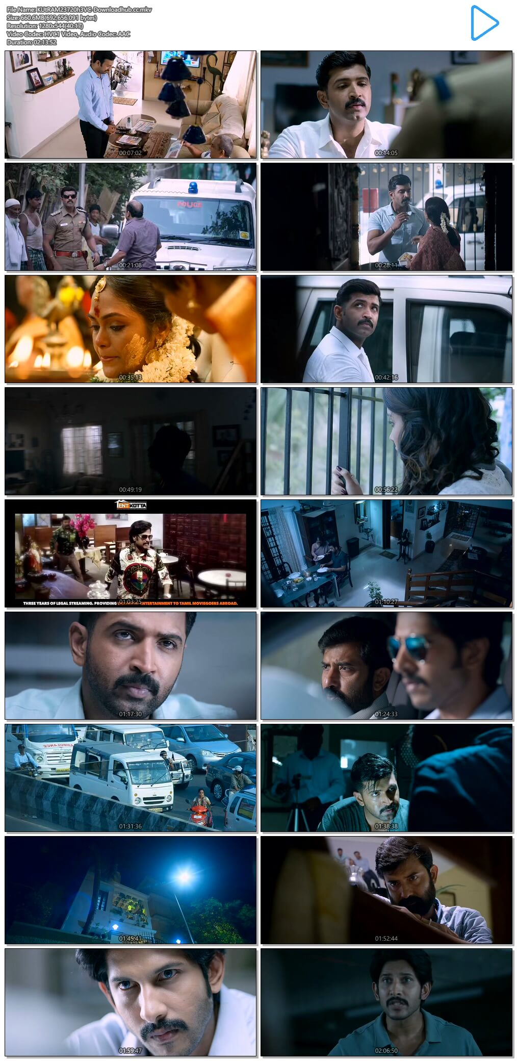 Kuttram 23 2017 UNCUT Hindi Dual Audio 720p HEVC HDRip Free Download