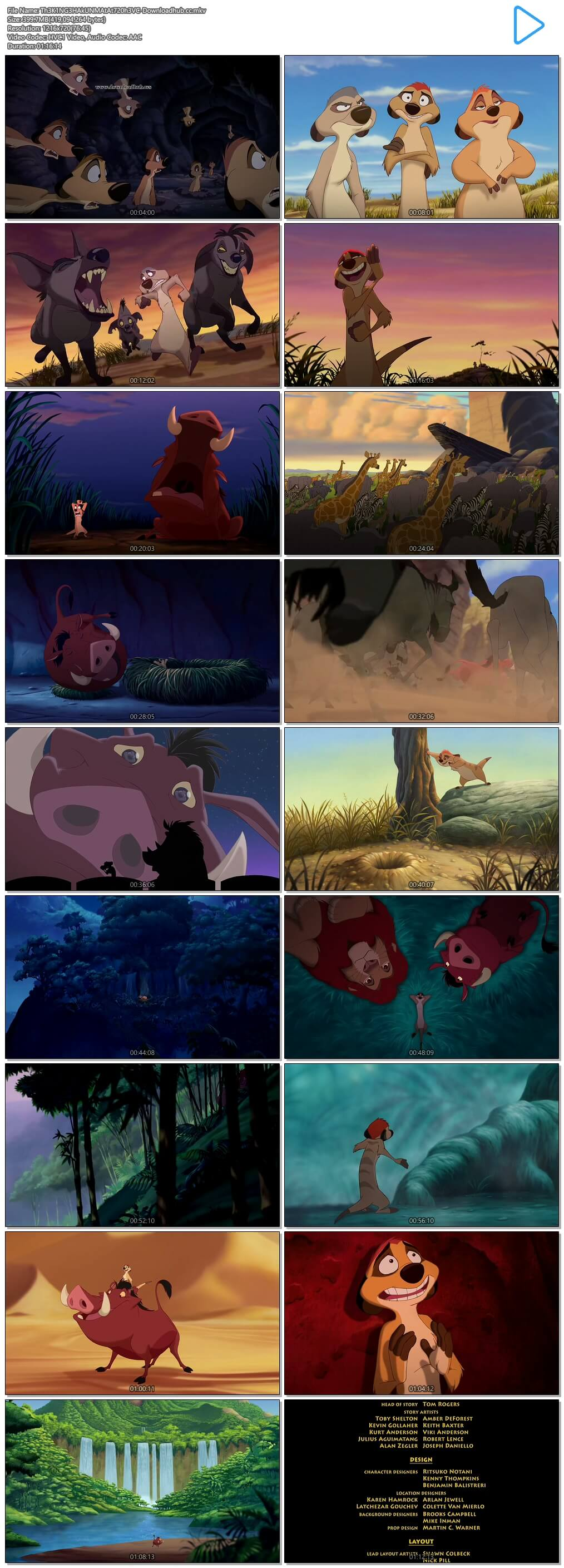 The Lion King 3 Hakuna Matata 2004 Hindi Dual Audio 720p HEVC BluRay Free Download
