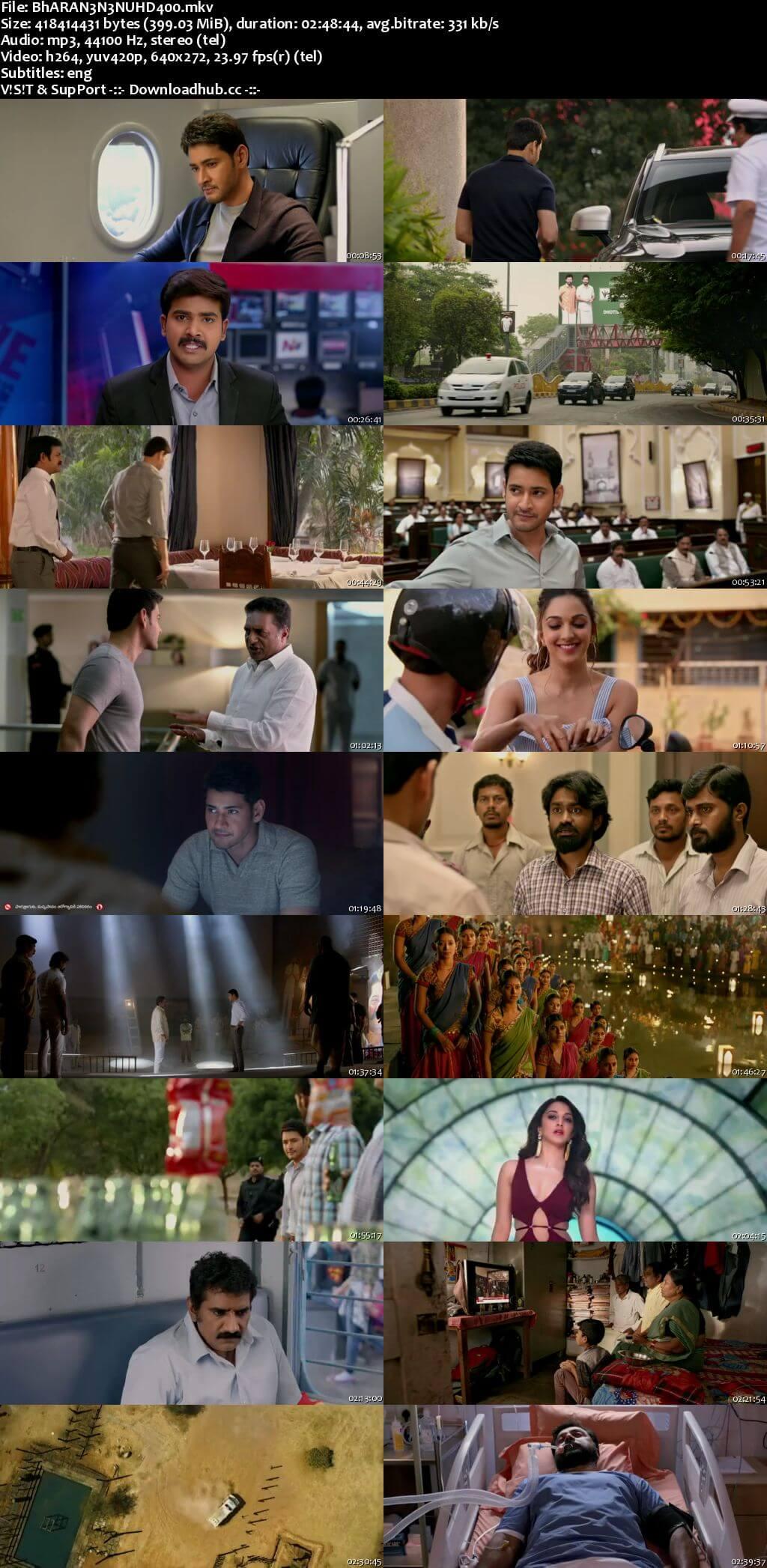 Bharat Ane Nenu 2018 Telugu 480p HDRip ESubs