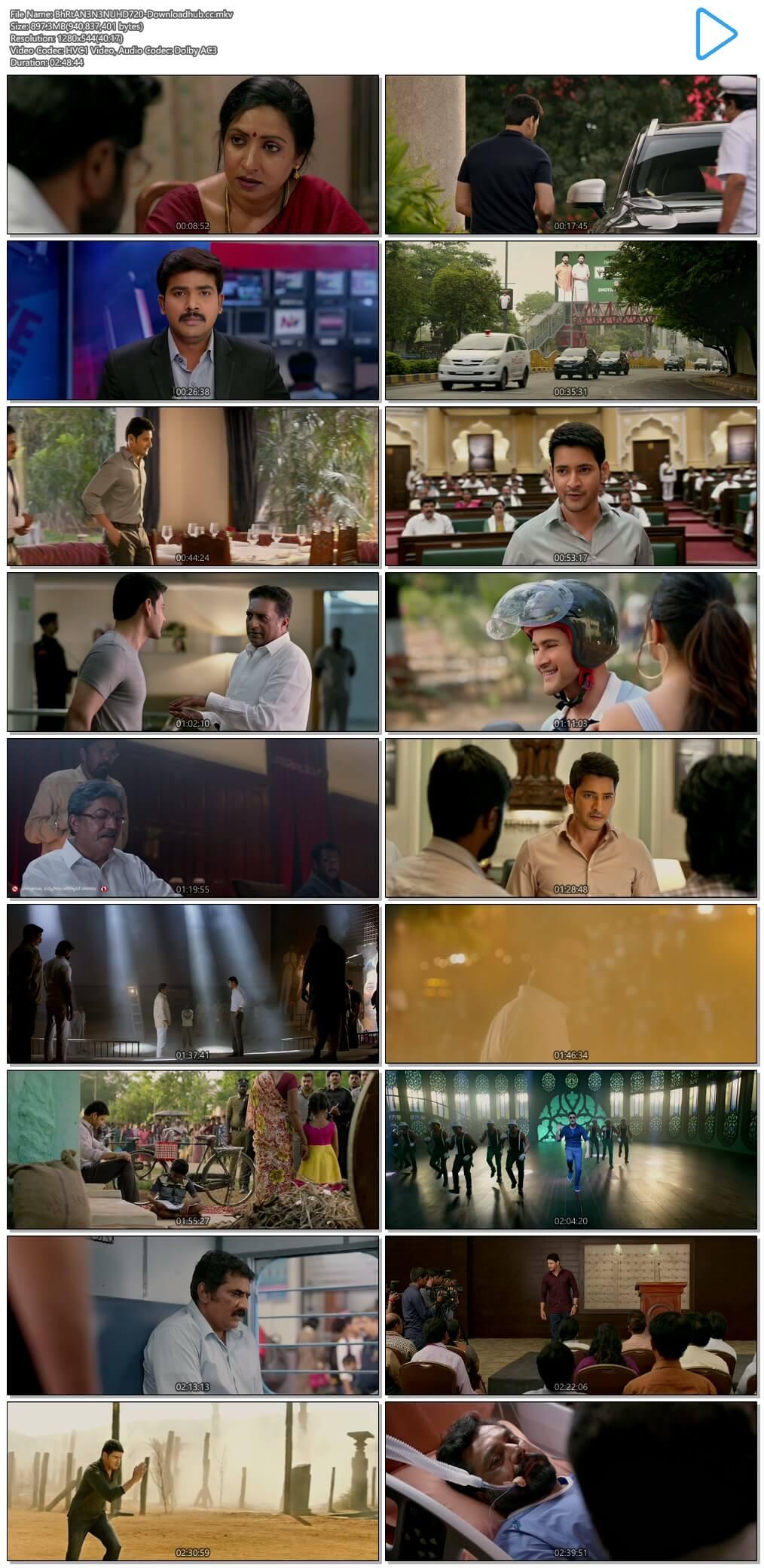 Bharat Ane Nenu 2018 Telugu 720p HDRip ESubs