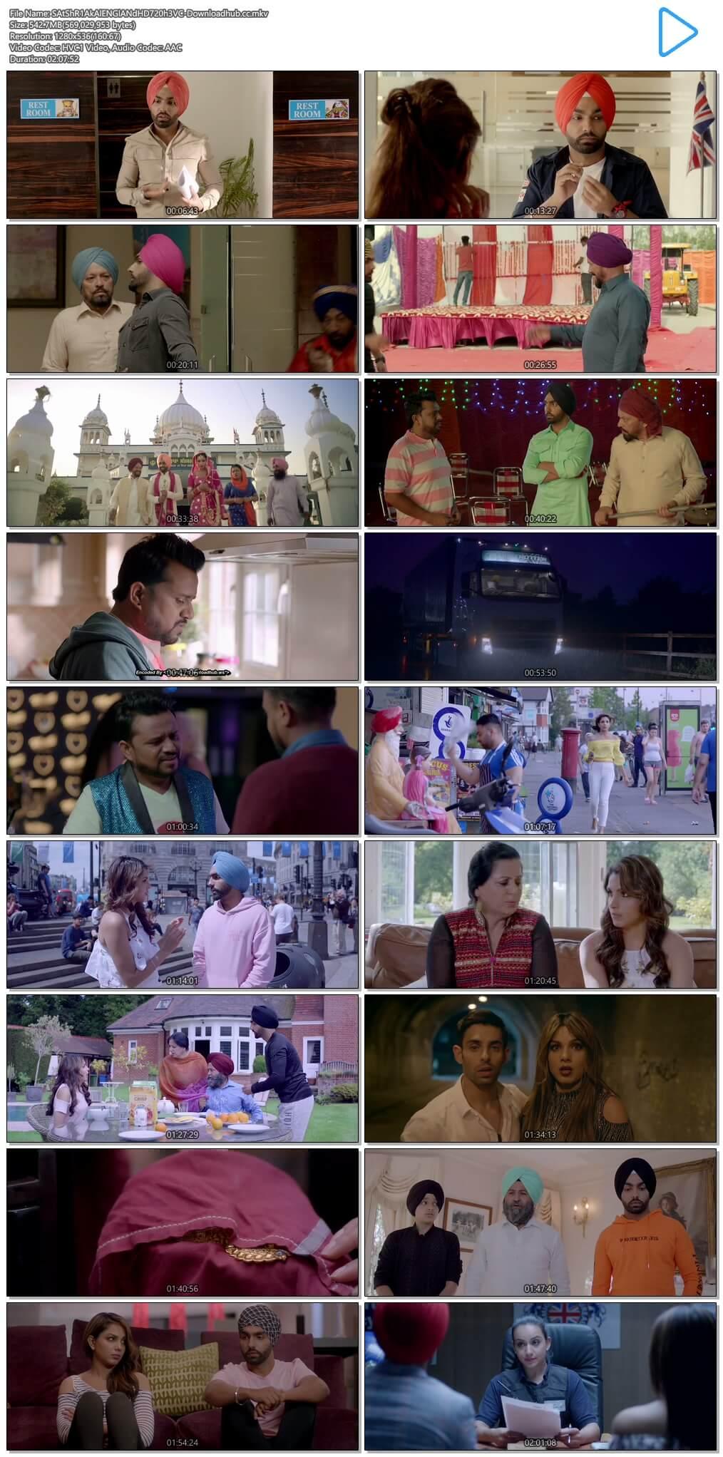 Sat Shri Akaal England 2017 Punjabi 720p HEVC HDRip ESubs