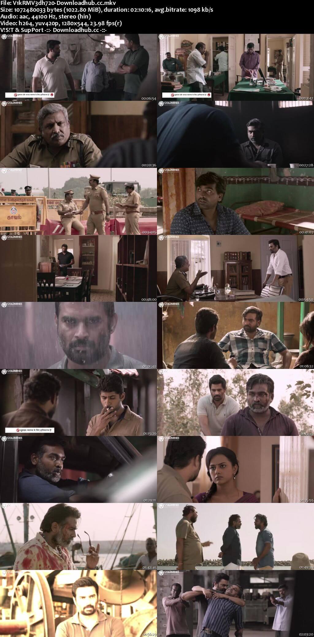 Vikram Vedha 2018 Hindi Dubbed 720p HDRip