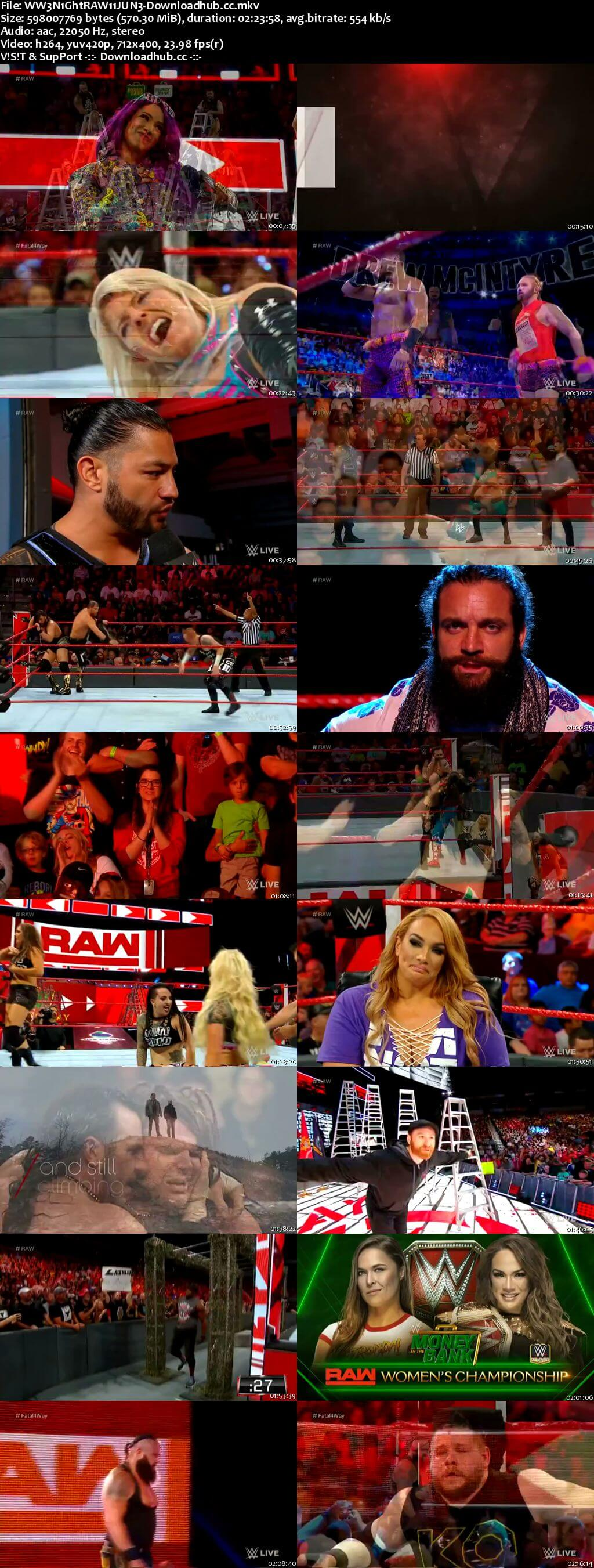 WWE Monday Night Raw 11 June 2018 480p HDTV Download