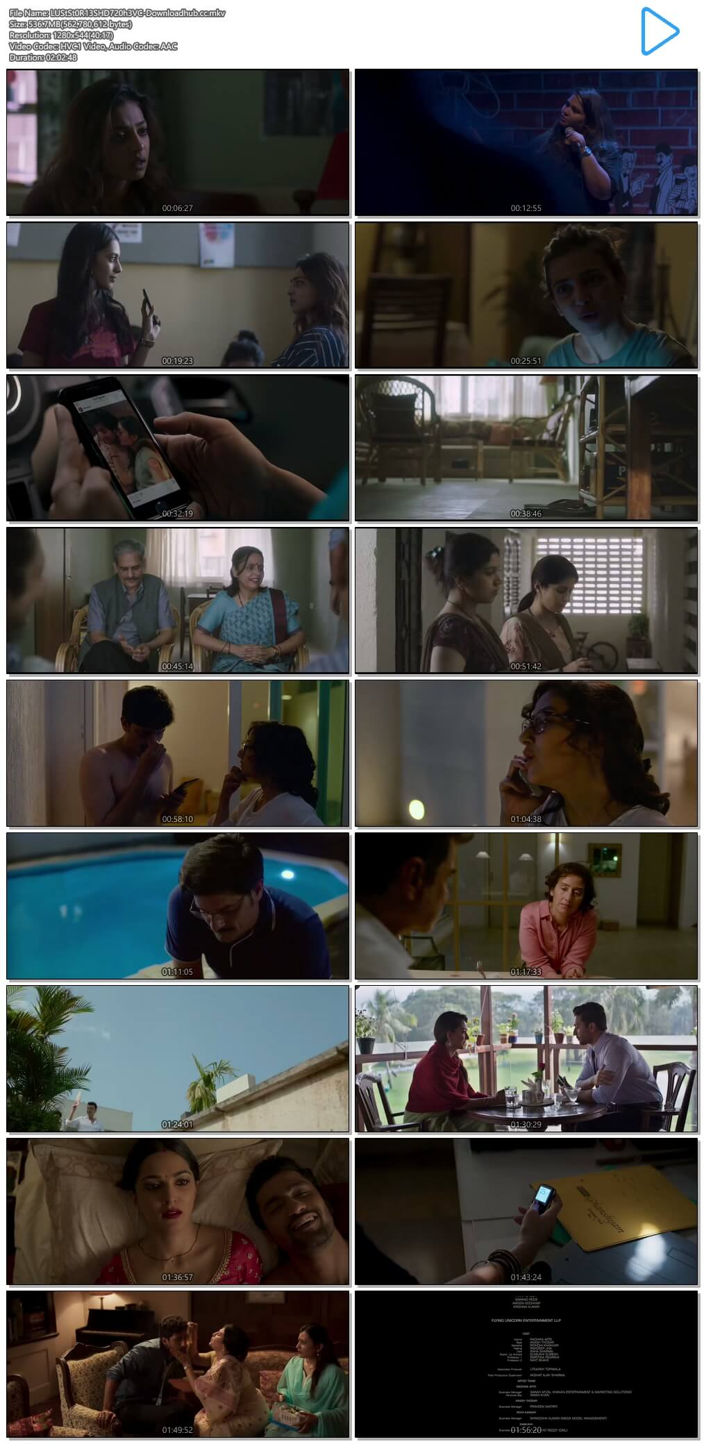 Lust Stories 2018 Hindi 720p HEVC HDRip MSubs