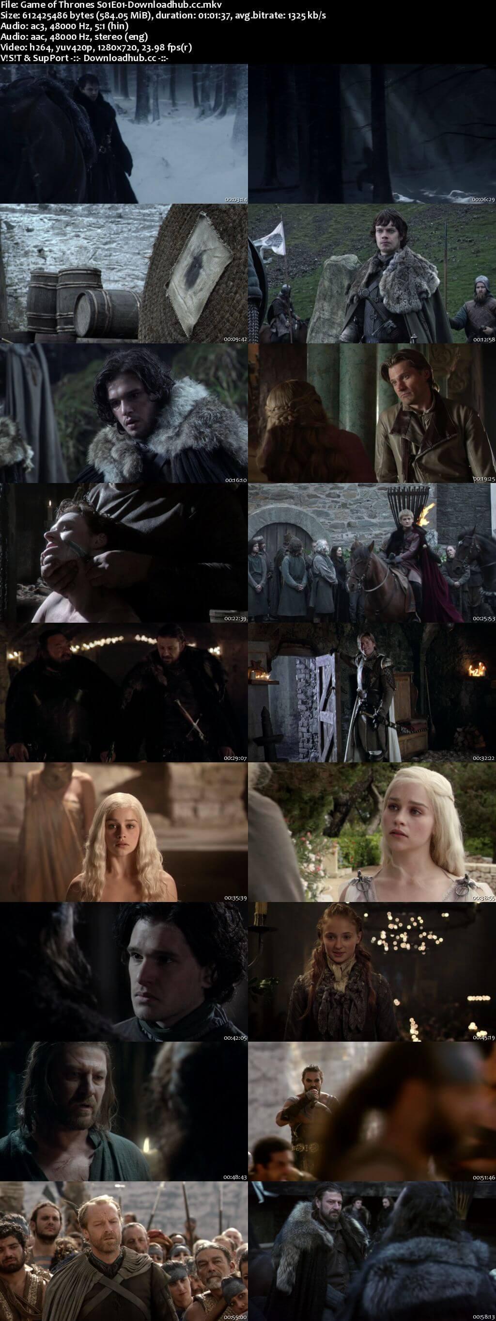 Game of Thrones Season 01 Hindi Dual Audio 720p BluRay Download