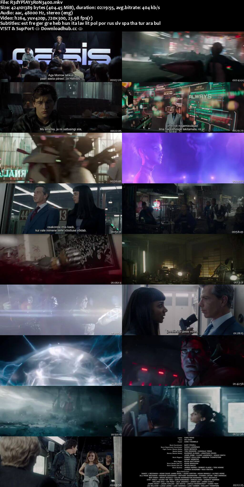 Ready Player One 2018 English 480p WEBRip MSubs