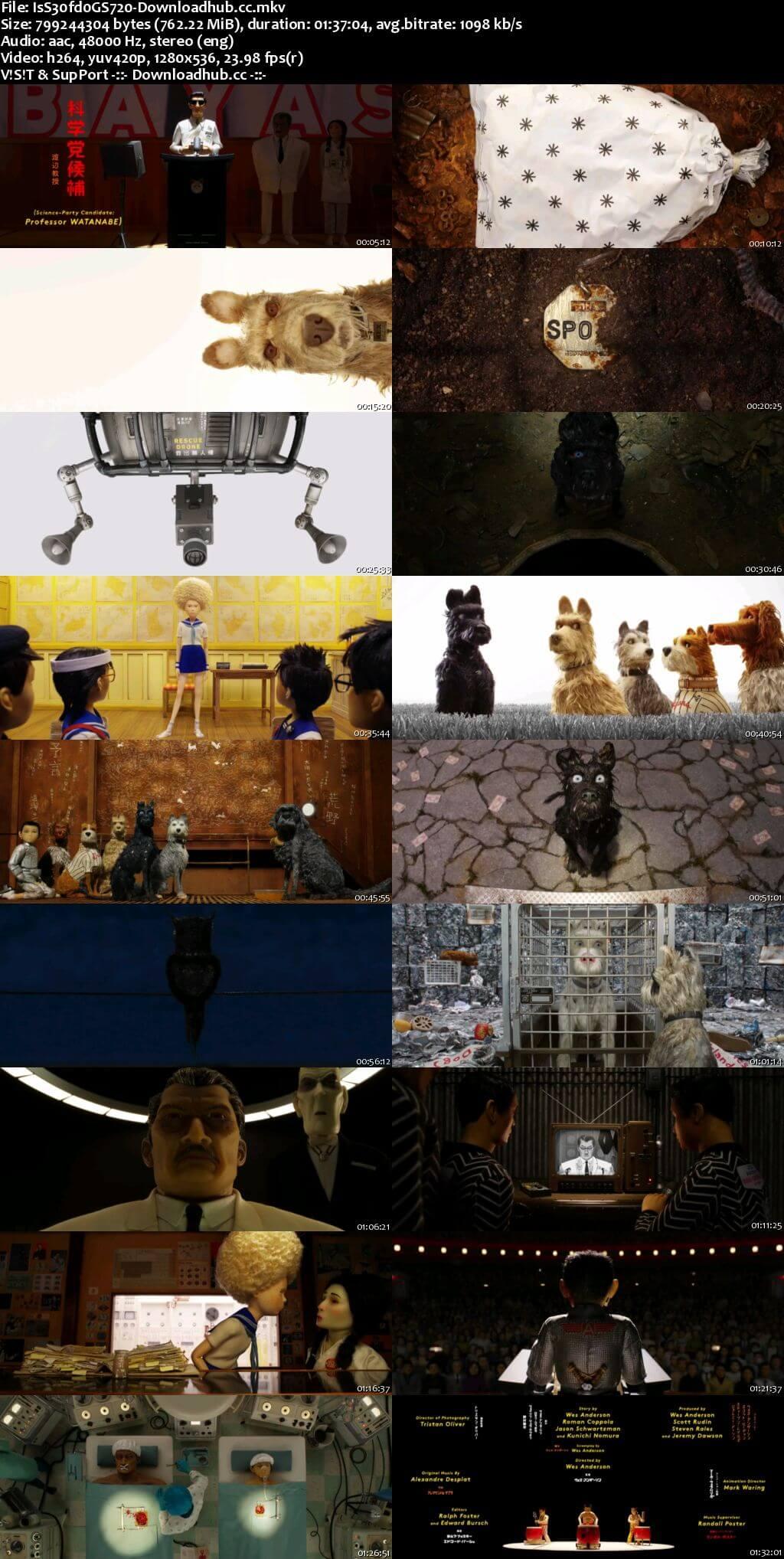 Isle of Dogs 2018 Full English Movie 720p HDRip 750MB