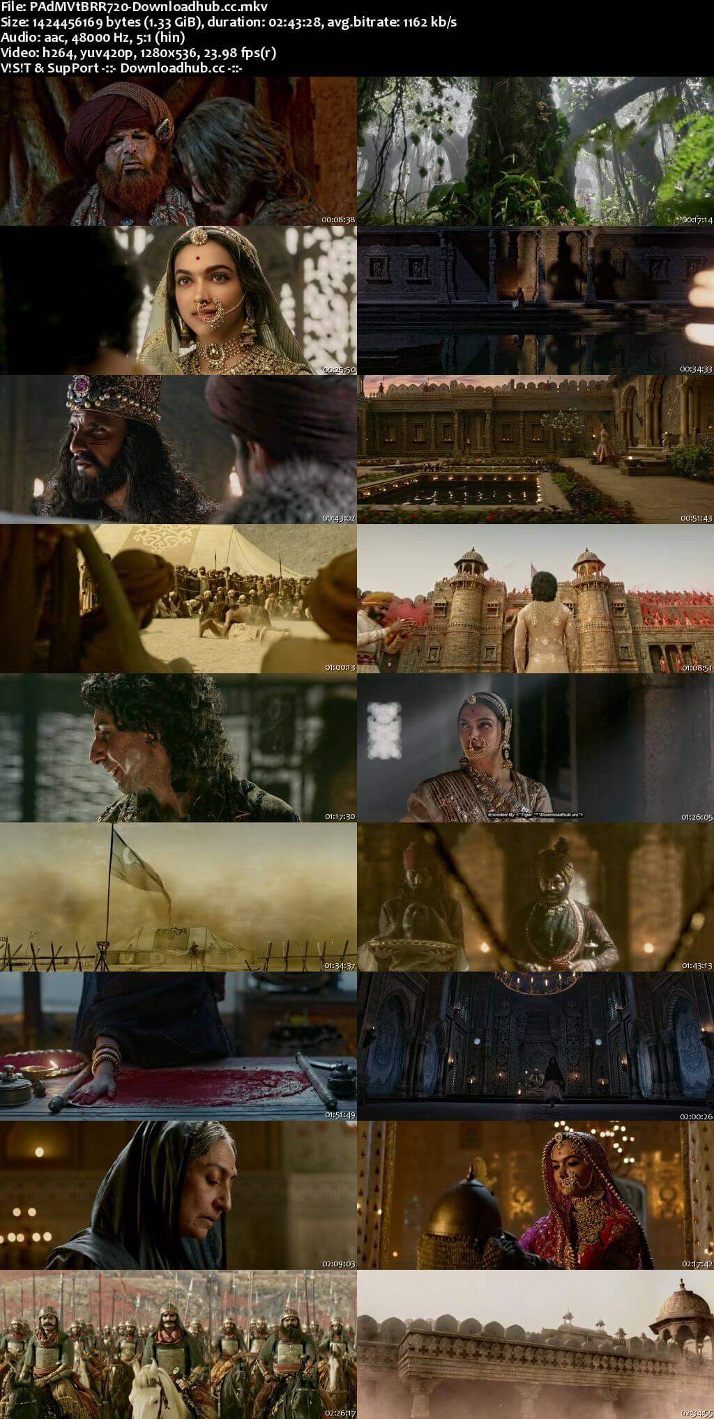 Padmaavat 2018 Hindi 720p BluRay ESubs