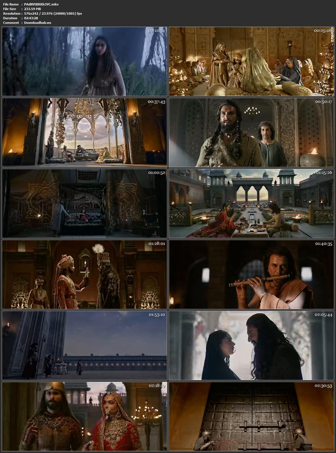 Padmaavat 2018 Hindi HEVC Mobile BluRay ESubs