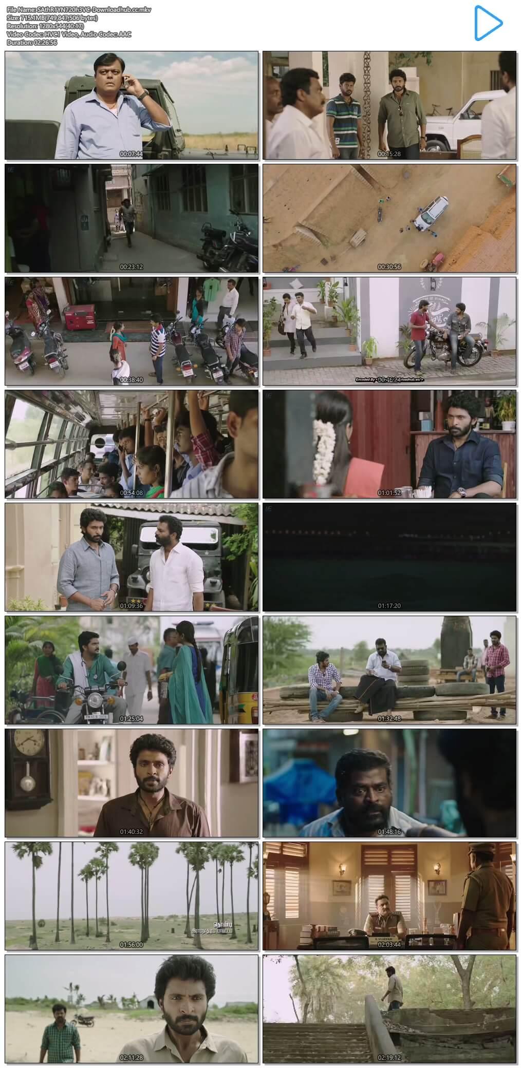 Sathriyan 2017 UNCUT Hindi Dual Audio 720p HEVC HDRip Free Download